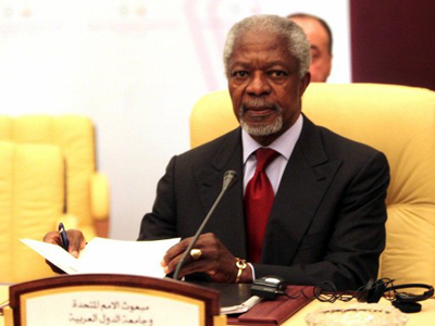 Annan to UN: Violence in Syria unacceptable, expedite observer deployment