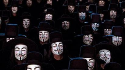 'We are legion' (image from http://guerrillamediaticaglh.blogspot.com)