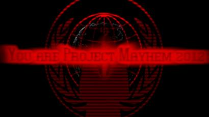 Anonymous announces Project Mayhem 2012 on YouTube