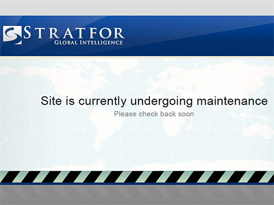 Stratfor's website was down on Sunday, December 25