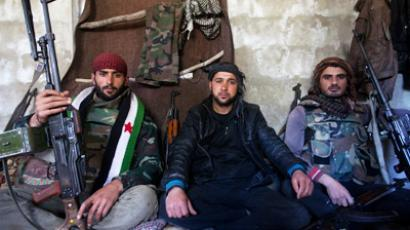 Rebels of the Free Syrian Army (AFP Photo / Giogos Moutafis)