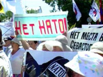 Anti-NATO protest in Crimea