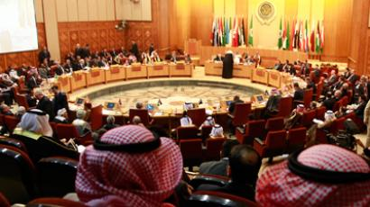 Arab foreign ministers during their meeting at the Arab League headquarters in Cairo January 22, 2012 (Reuters / Suhaib Salem)