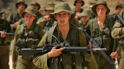 Recruits from the Israeli army's paratroopers brigade (AFP Photo/David Furst)