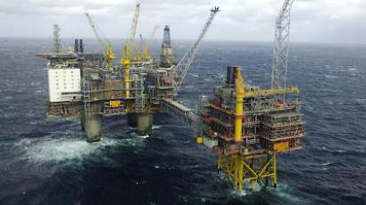 Air view of the Gas Platform in The North Sea (Helge Hansen / Hydro / Scanpix Norway / AFP)