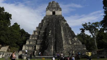 "Front of the ""Gran Jaguar"" Mayan temple (AFP Photo / Johan Ordonez)"