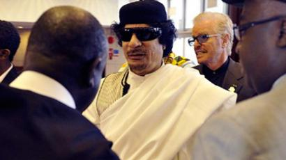 Libyan leader Muammar Gaddafi (AFP Photo / Simon Maina)