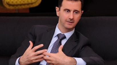 Syrian President Bashar al-Assad during an interview with a Turkish newspaper Cumhuriyet in Damascus, on July 3, 2012. (AFP Photo)
