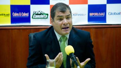 Ecuador's President Rafael Correa gestures during an interview in Loja (Reuters / Guillermo Granja)