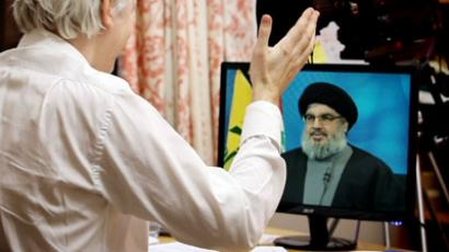 Nasrallah to Assange: Hezbollah talked to Syria opposition; we want dialogue, US & Israel want civil war