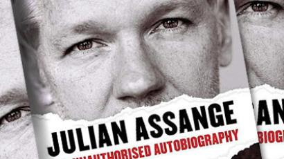 "The image shows the cover of the book ""Julian Assange: The Unauthorized Autobiography"" released on September 22 in the UK"