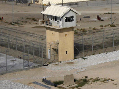 A general view of the prison compound before a ceremony handing over the Bagram prison to Afghan authorities, at the U.S. airbase in Bagram, north of Kabul September 10, 2012. (Reuters/Omar Sobhani)