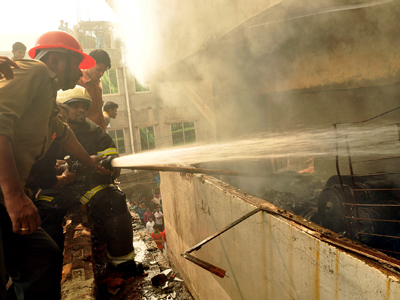Second garment factory fire breaks out in Bangladesh 2 days after inferno kills 112