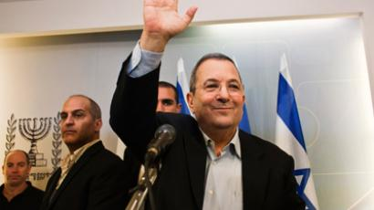 Israel's Defence Minister Ehud Barak waves as he leaves after a news conference in Tel Aviv November 26, 2012 (Reuters / Nir Elias)
