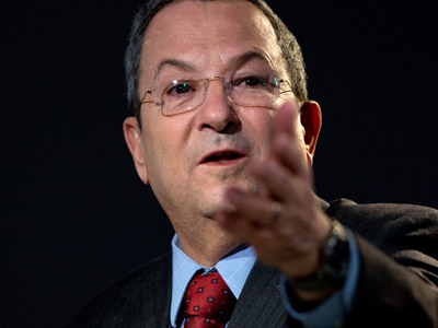 Israeli Minister of Defense Ehud Barak speaks during a session of the 2013 World Economic Forum Annual Meeting on January 24, 2013 at the Swiss resort of Davos. (AFP Photo/Johannes Eisele)