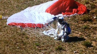 """Mission Accomplished!"" (Image from facebook.com/redbullstratos)"