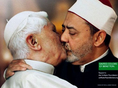 Pope kisses Muslim Cleric: Shock 'Unhate' ad canned