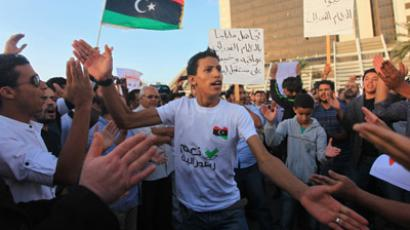 Protesters demonstrate during a pro-federalism rally in Benghazi November 2, 2012. (Reuters/Esam Al-Fetori)