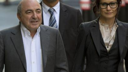Russian oligarch Boris Berezovsky and his partner Elena Gorbunova (Reuters/Neil Hall)