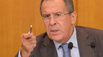 Russian Foreign Minister Sergei Lavrov speaks during a press conference in Moscow, on July 16, 2012 (RIA Novosti / Sergey Pyatakov)