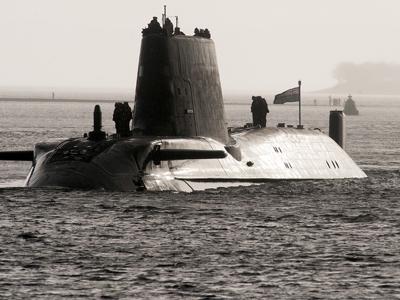 HMS Astute, the British Royal Navy's latest nuclear hunter killer submarine (AFP Photo / Andy Buchanan)