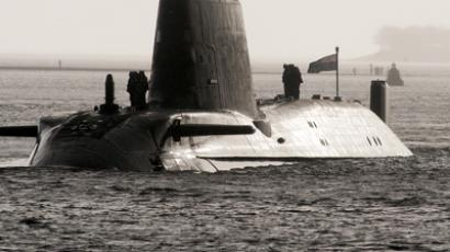 HMS Astute, the British Royal Navy's latest nuclear hunter killer submarine (AFP Photo / Andy Buchanan)