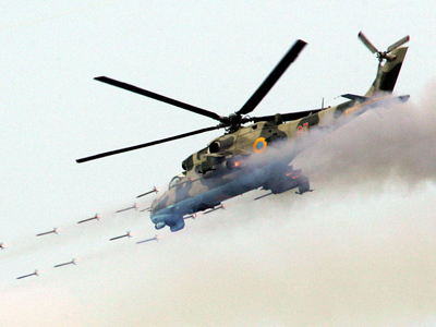 MI-24 helicopter (AFP Photo / Genia Savilov)