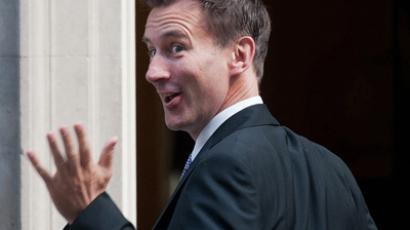 British politician Jeremy Hunt (AFP Photo / Will Oliver)