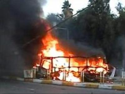 Bus blasted in Baghdad