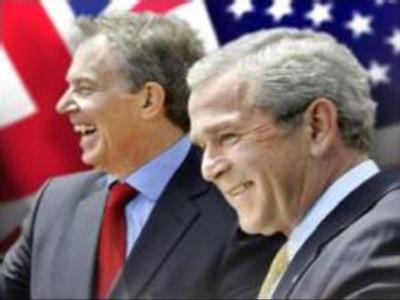 Bush & Blair: no regrets on Iraq war