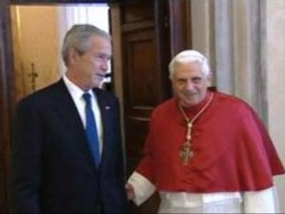 Bush meets Pope Benedict