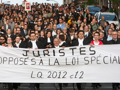 Lawyers against law: Montreal legal eagles parade against anti-rally bill (PHOTOS)