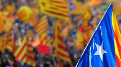 Supporters of independence for Catalonia demonstrate.(AFP Photo / Lluis Gene)