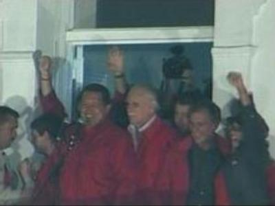 Chavez returned as Venezuelan President