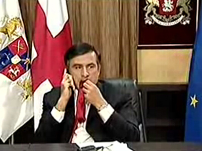 Chewing ties, Saakashvili style
