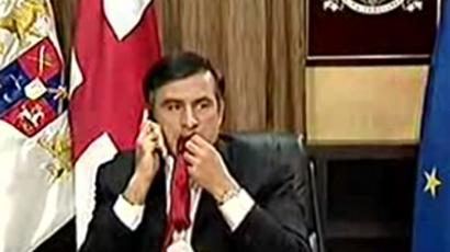 Mikhail Saakashvili, screenshot from BBC video