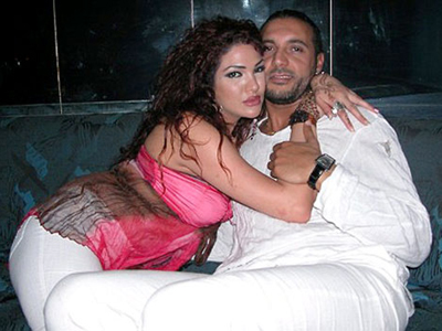 Hannibal Gaddafi and his wife, image released by Libyan NTC
