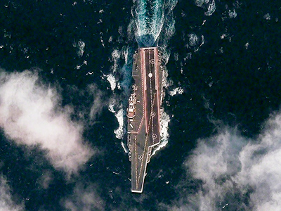 The Chinese aircraft carrier Varyag is pictured during its second sea trial in the Yellow Sea, approximately 100 km (62 miles) south-southeast of the port of Dalian, in this DigitalGlobe photograph released on December 14, 2011 (Reuters / Reuters Photographer)