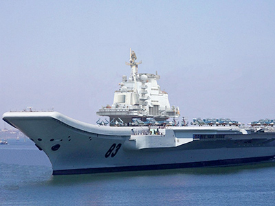 China makes first aircraft carrier out of Soviet warship
