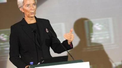 International Monetary Fund chief Christine Lagarde delivers her speech at the International Finance Forum in Beijing on November 9, 2011 (AFP Photo / Liu Jin)