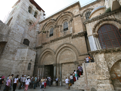 A general view showing one of Christianity's holiest site, The Church of the Holy Sepulchre (AFP Photo / Gali Tibbon)