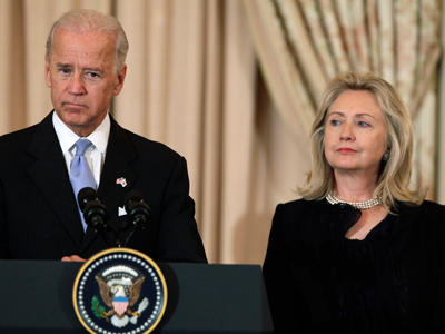 Clinton, Biden call out Romney for 'Cold War' tone on Russia