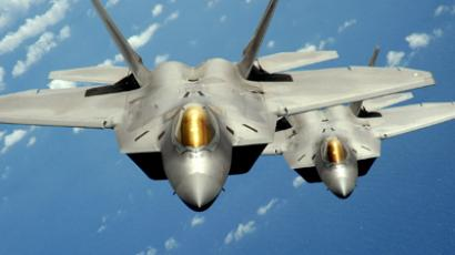 Two U.S. Air Force F-22 Raptor stealth jet fighters (Reuters / Handout)