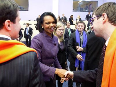 Praise for innovations: Condoleezza Rice visits Skolkovo tech-hub