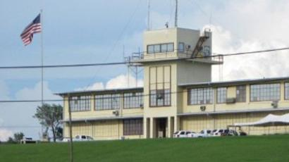 Cuba, Guantanamo: Photo reviewed by US military officials shows the building on Guantanamo October 22, 2010 where the trial of a Canadian caught in Afghanistan will resume on October 25, 2010. (AFP Photo / Virginie Montet)
