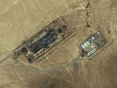 An IKONOS satellite image of a facility near Kabul, Afghanistan taken on July 17, 2003. A Washington Post on November 2, 2005 refers to this facility as the largest CIA covert prison in Afghanistan, code-named the Salt Pit (Reuters / Space Imaging Middle East)