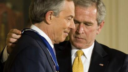 George W. Bush (R) and Tony Blair (AFP Photo / Jim Watson)