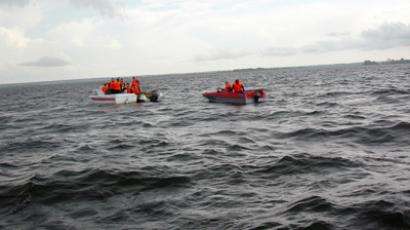 "Rescue mission continues at the wreck site of ""Bulgaria"" (RIA Novosti / STF)"
