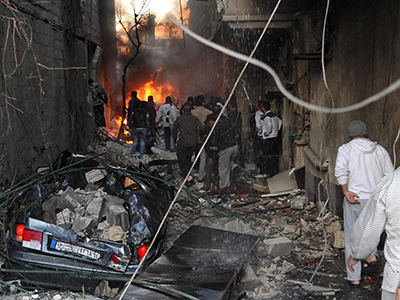 At least 34 people killed in twin blasts in Damascus (PHOTOS)