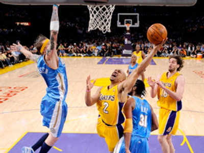 Denver claims first ever playoff victory over Lakers